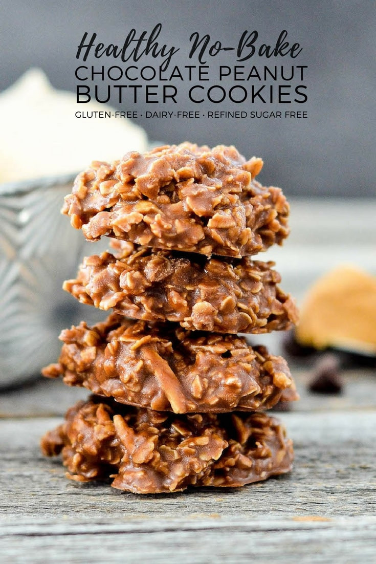 Healthy No Bake Cookies Without Peanut Butter  Healthy No Bake Chocolate Peanut Butter Cookies