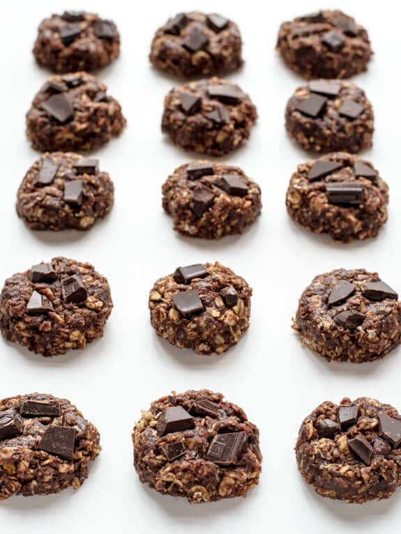 Healthy No Bake Cookies Without Peanut Butter  Healthy No Bake Cookies with Chocolate and Peanut Butter