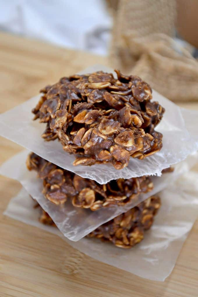 Healthy No Bake Cookies Without Peanut Butter  Healthy Chocolate Peanutbutter No Bake Cookies Build
