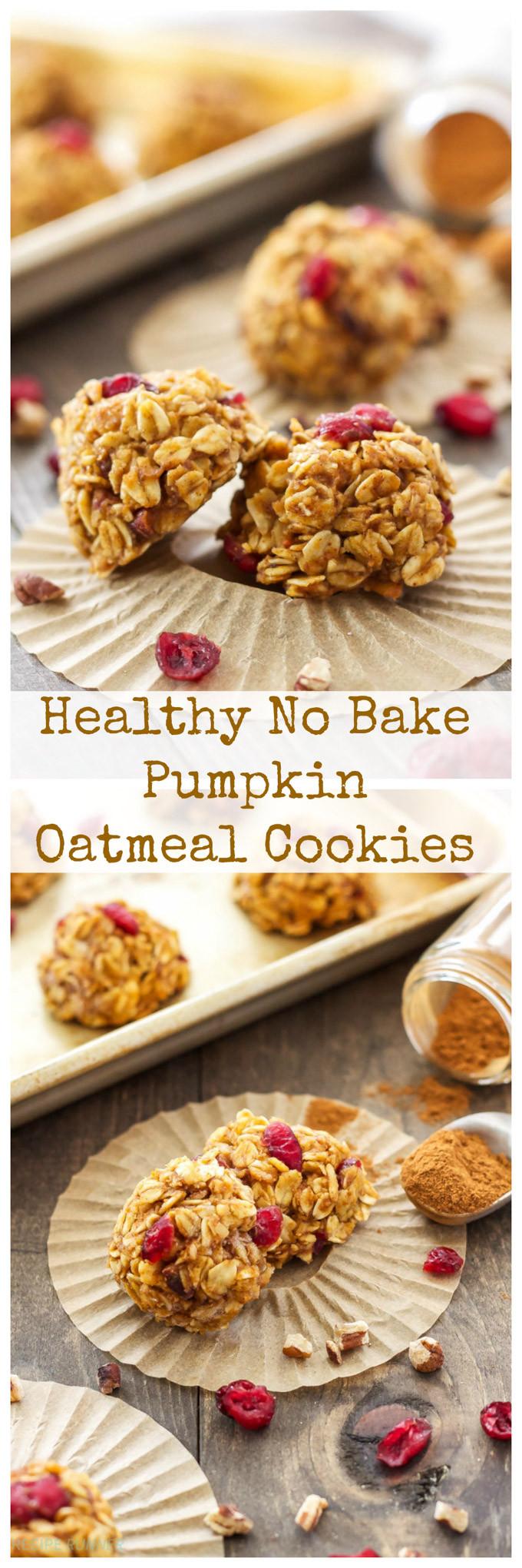 Healthy No Bake Oatmeal Cookies  Healthy No Bake Pumpkin Cookies Recipe Runner