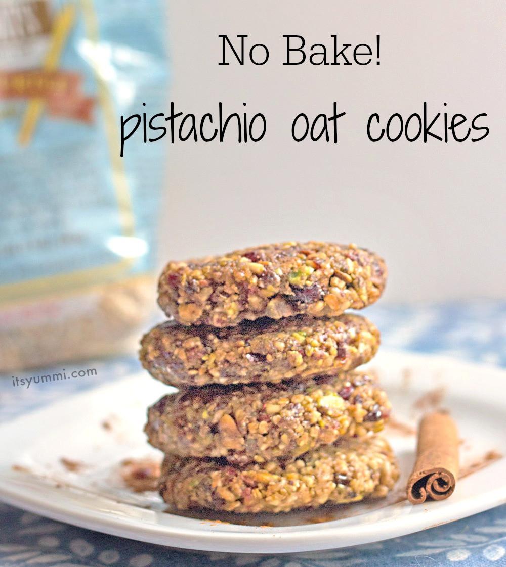 Healthy No Bake Oatmeal Cookies  Healthy Pistachio Oat No Bake Cookies