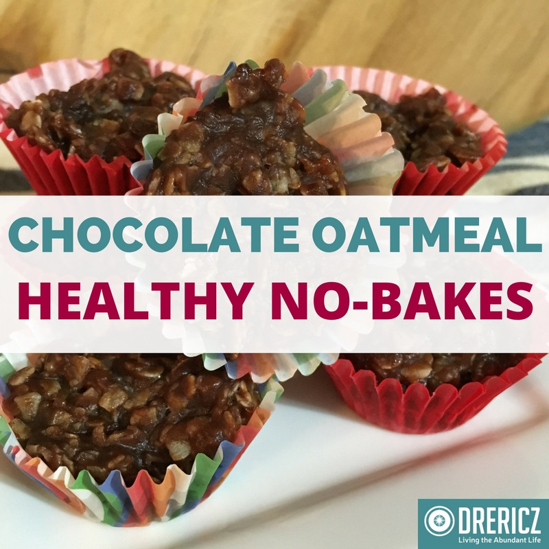 Healthy No Bake Oatmeal Cookies  Healthy No Bake Chocolate Oatmeal Cookies