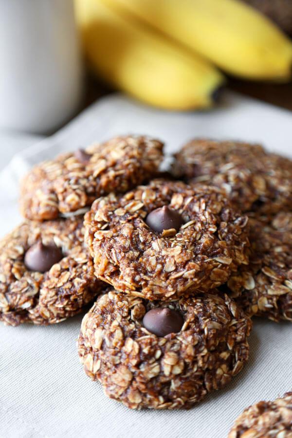 Healthy No Bake Oatmeal Cookies  Healthy no bake oatmeal cookie recipes Food cookie recipes