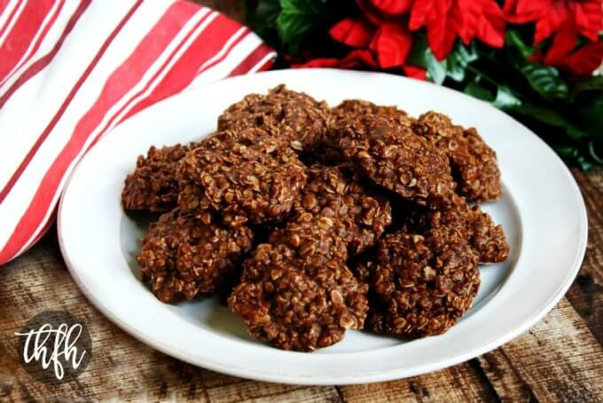 Healthy No Bake Peanut Butter Oatmeal Cookies  Gluten Free Vegan Chocolate Peanut Butter Oatmeal No Bake