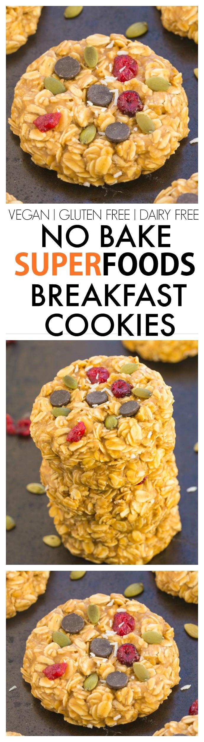 Healthy No Cook Breakfast  Healthy No Bake Superfoods Breakfast Cookies