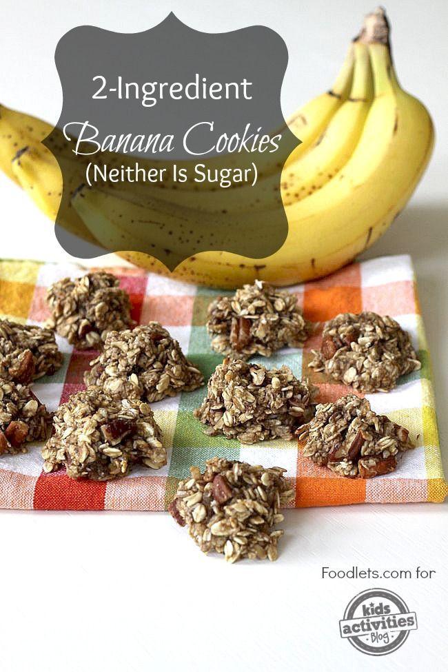 Healthy No Sugar Snacks  healthy snacks for kids banana cookies