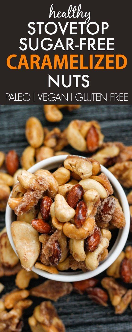 Healthy No Sugar Snacks  Sugar Free Caramelised Nuts