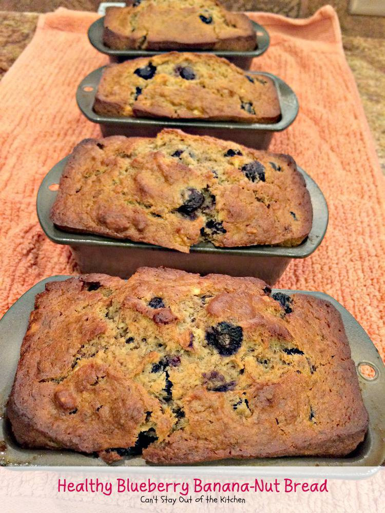 Healthy Nut Bread Recipe  Healthy Blueberry Banana Nut Bread Can t Stay Out of the