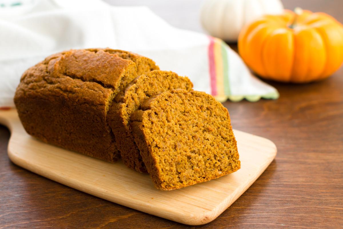 Healthy Nut Bread Recipe  Healthy Pumpkin Bread Recipe Deliciously Dairy Free
