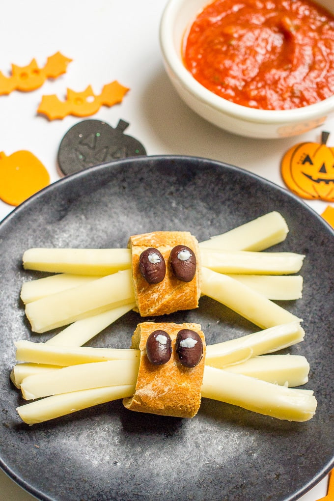 Healthy Nutritious Snacks  Healthy Halloween spider snacks Family Food on the Table