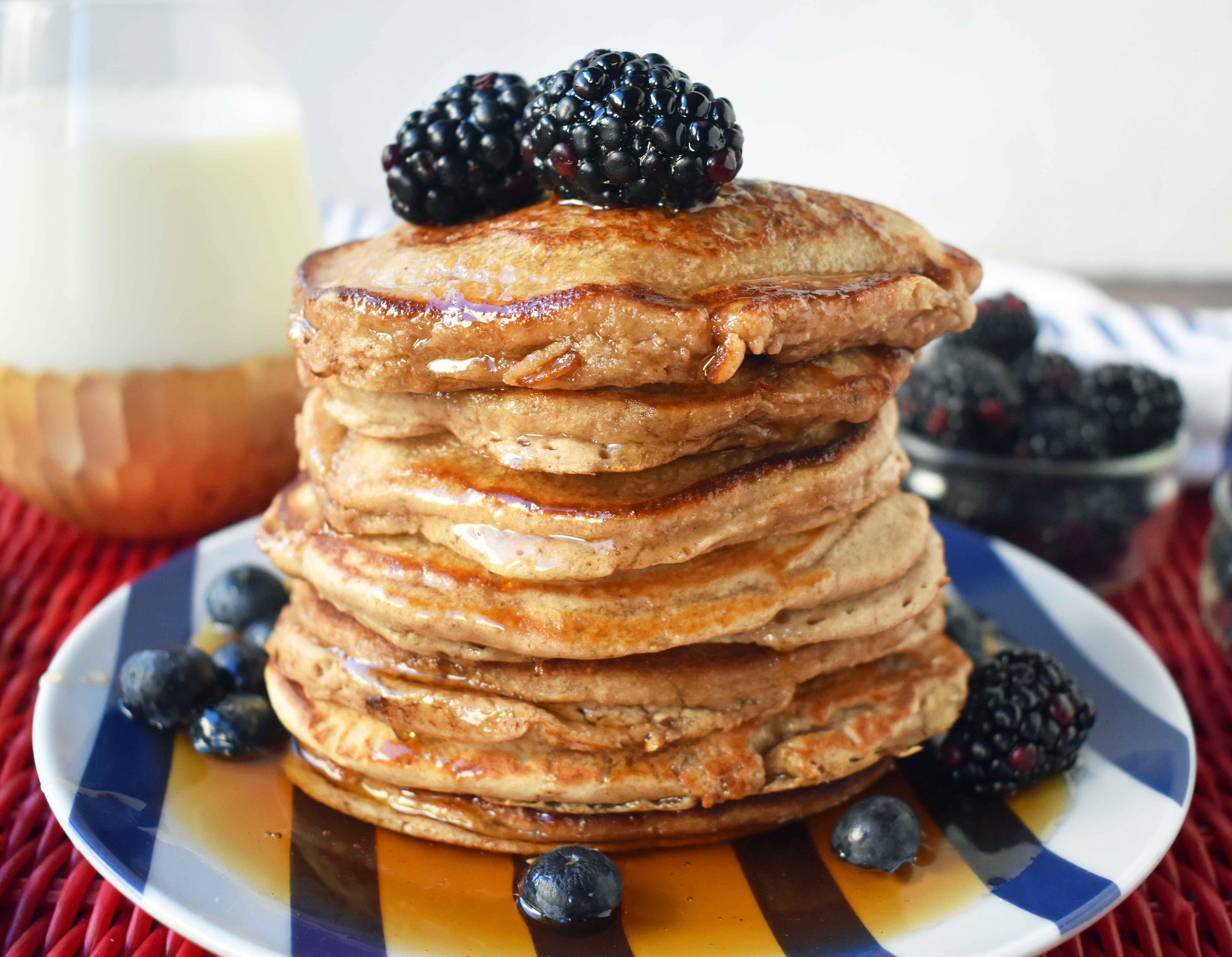 Healthy Oat Pancakes  Banana Oatmeal Pancakes – Modern Honey