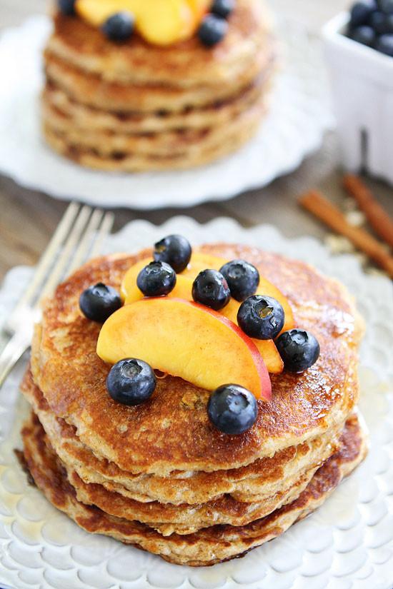 Healthy Oat Pancakes  Cinnamon Oatmeal Pancake Recipe