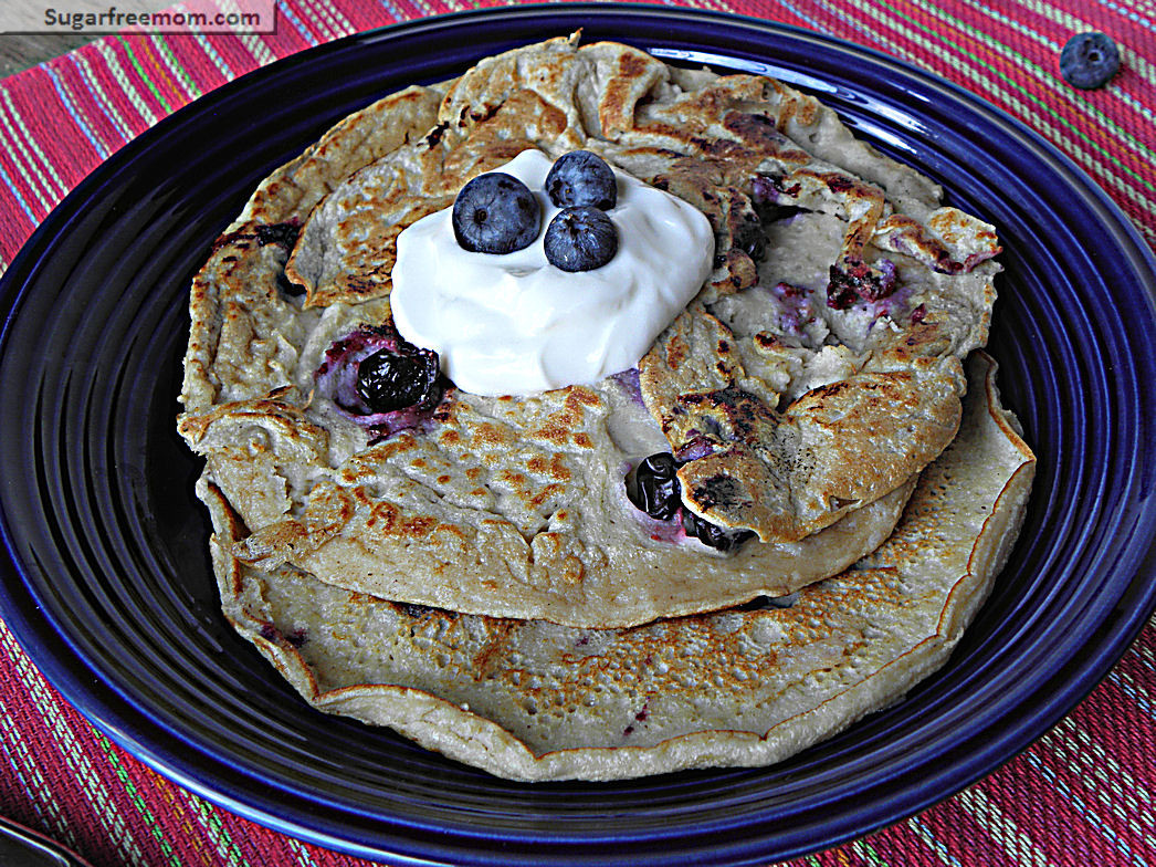 Healthy Oat Pancakes  Healthy Blueberry Oat Pancakes No Sugar Added