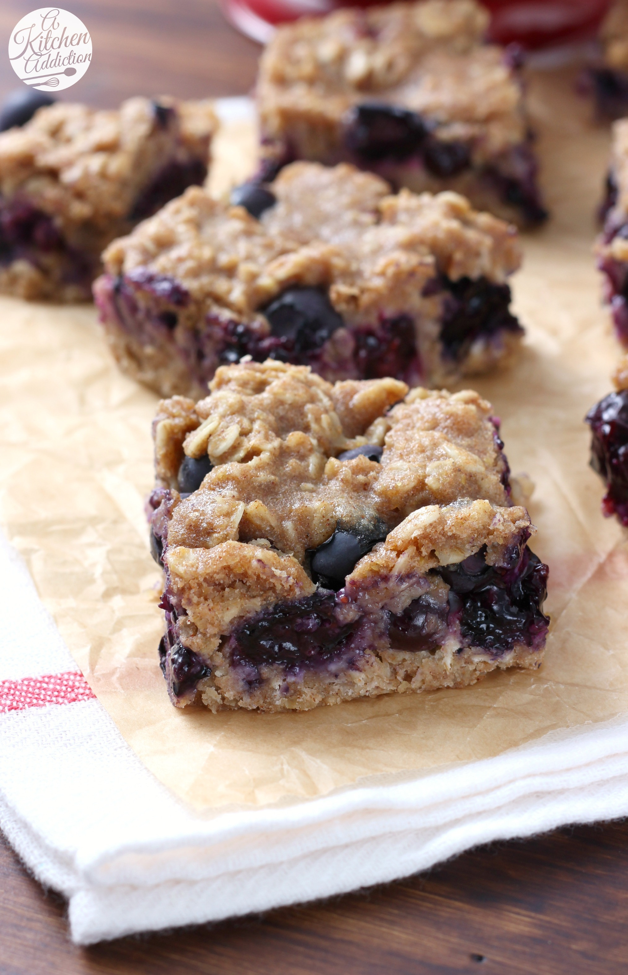 Healthy Oat Snacks  Blueberry Oat Snack Bars A Kitchen Addiction