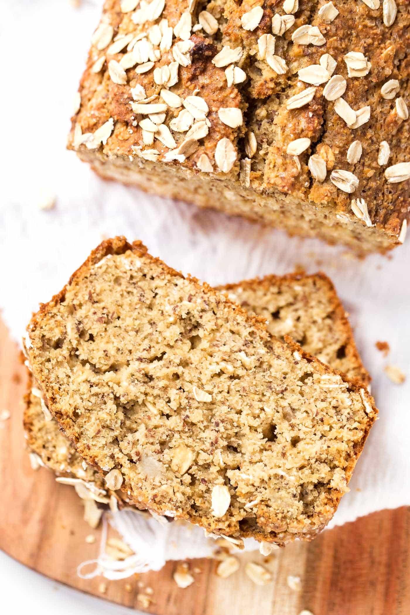 Healthy Oatmeal Banana Bread  Healthy Honey Oatmeal Banana Bread Simply Quinoa