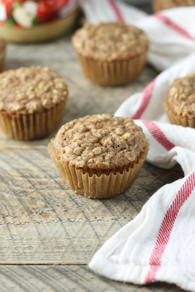 Healthy Oatmeal Banana Muffins With Applesauce  applesauce oatmeal muffins