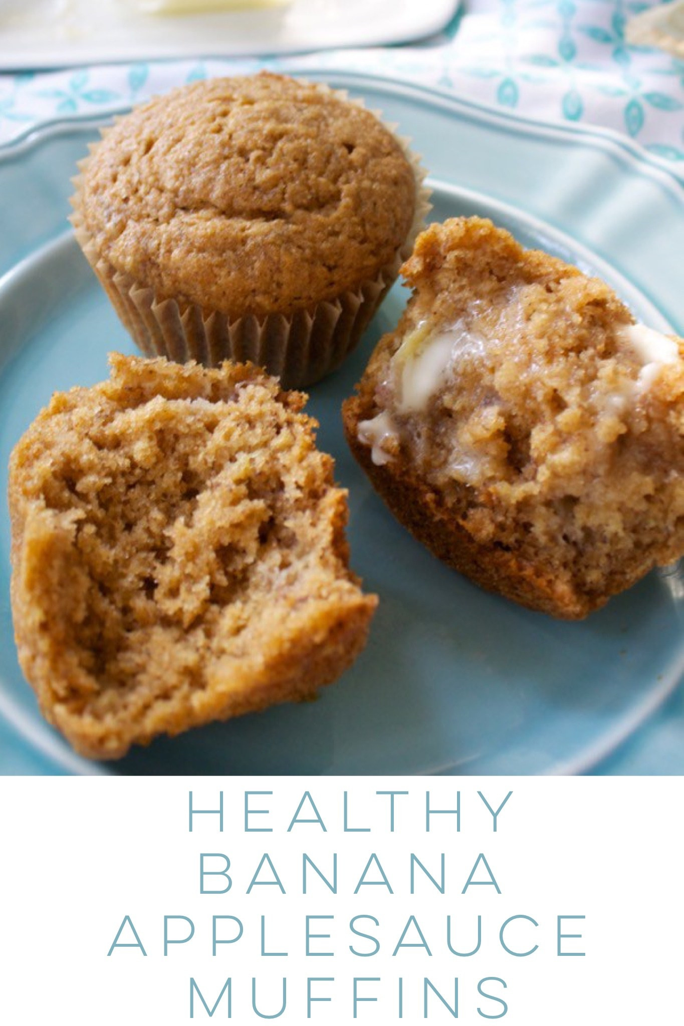 Healthy Oatmeal Banana Muffins With Applesauce  low fat banana muffins with applesauce