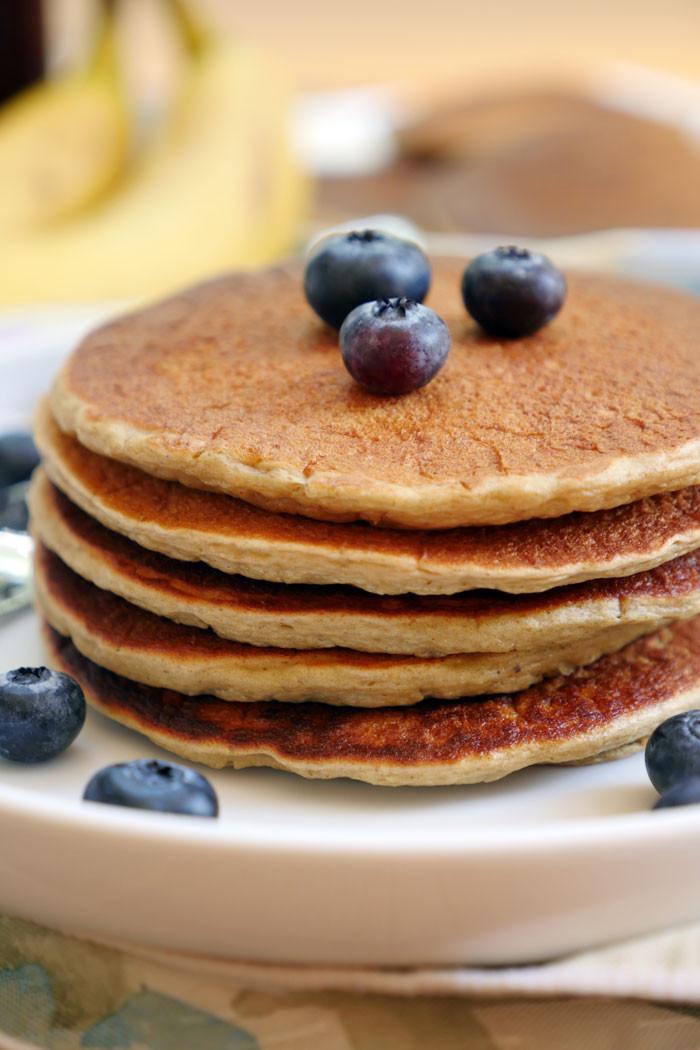 Healthy Oatmeal Banana Pancakes  Healthy Oatmeal Banana Pancakes Gluten free