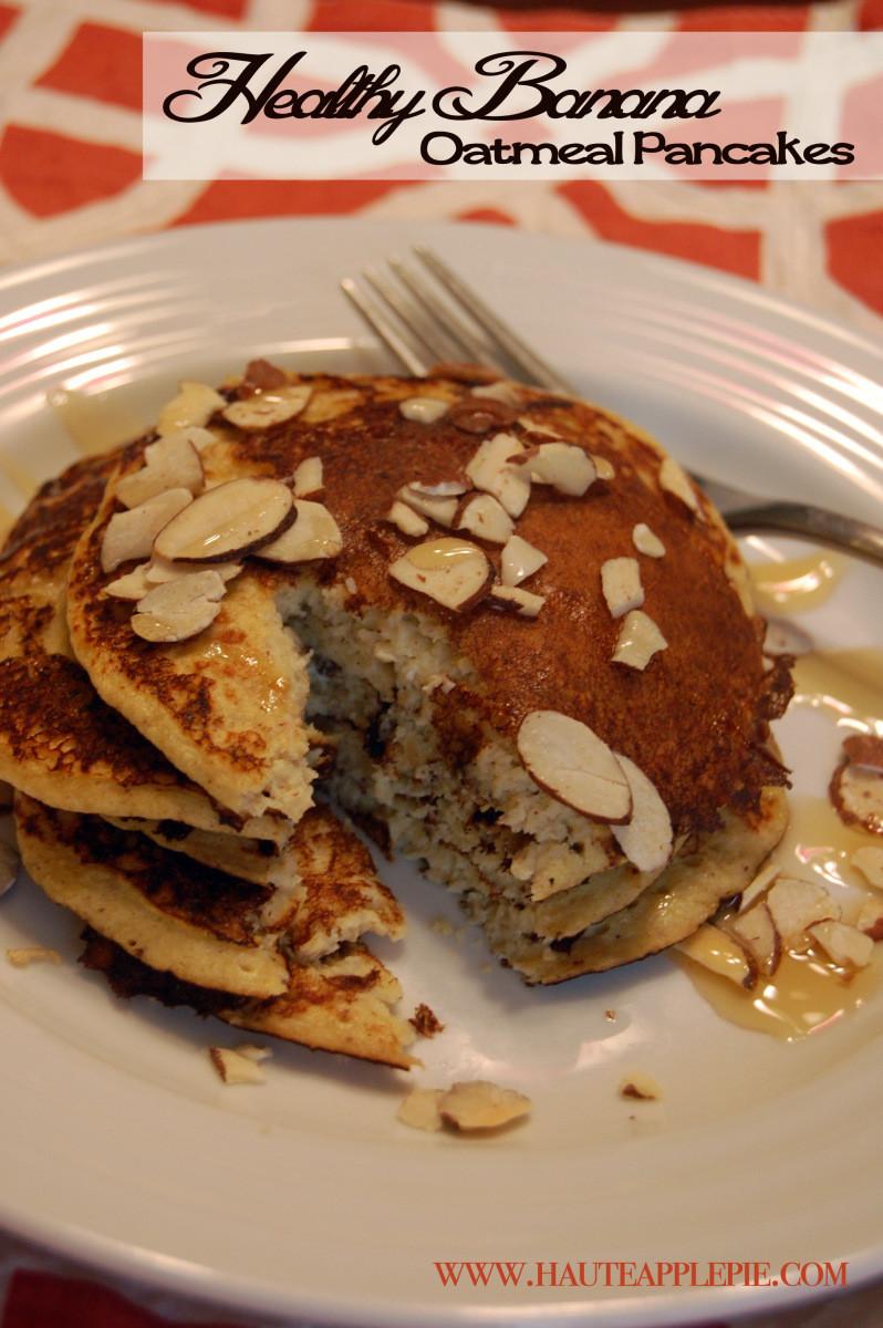Healthy Oatmeal Banana Pancakes  Healthy Banana Oatmeal Pancakes
