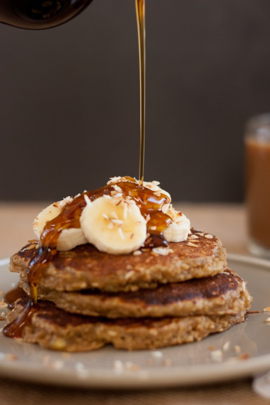 Healthy Oatmeal Banana Pancakes  13 Healthy Make Ahead Breakfast Recipes Cookie and Kate
