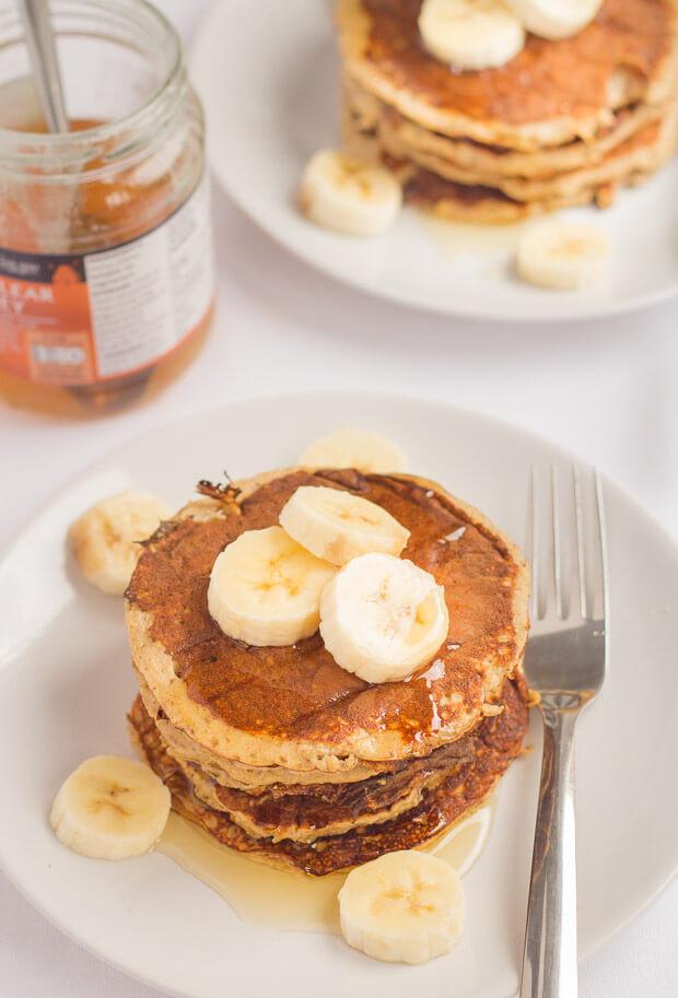 Healthy Oatmeal Banana Pancakes  Banana Oat Pancakes Neils Healthy Meals