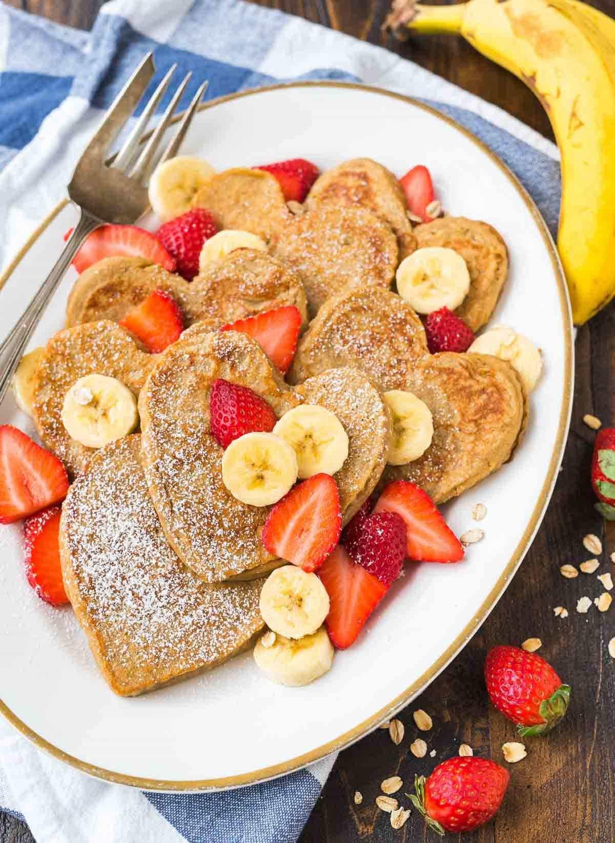 Healthy Oatmeal Banana Pancakes  Banana Oatmeal Pancakes