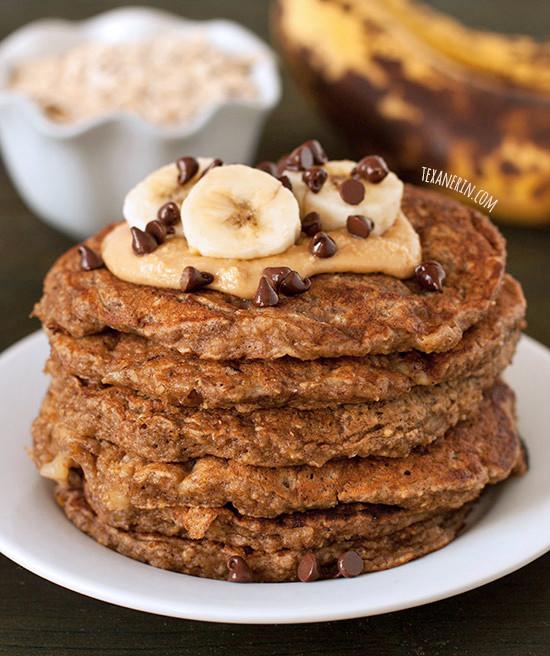 Healthy Oatmeal Banana Pancakes  Banana Pancakes gluten free whole grain dairy free