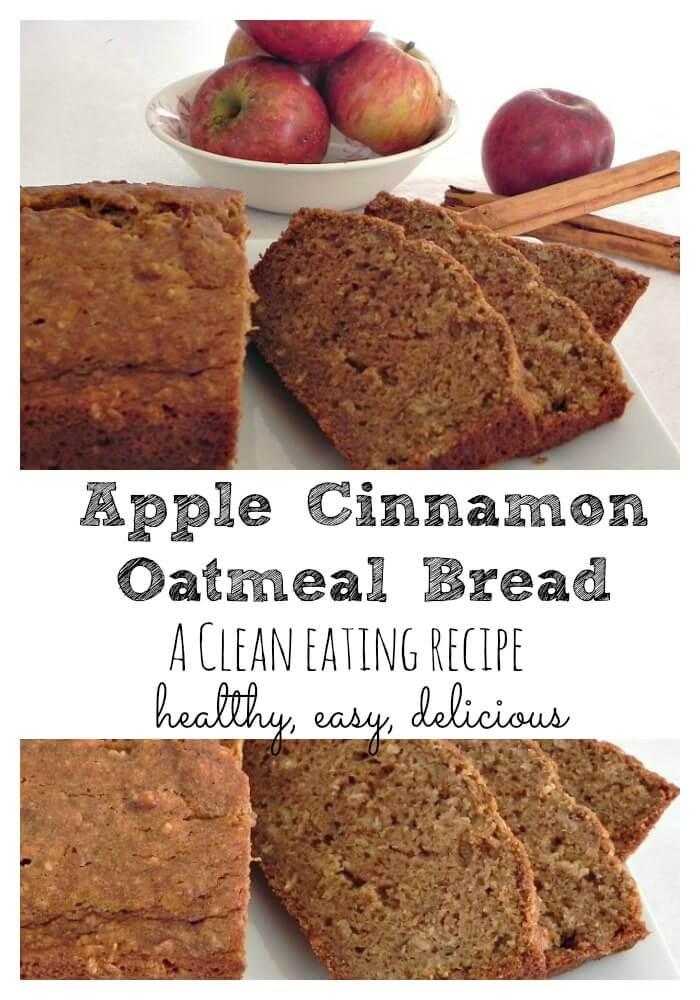 Healthy Oatmeal Bread Recipe  Apple Cinnamon Oatmeal Bread a clean eating recipe