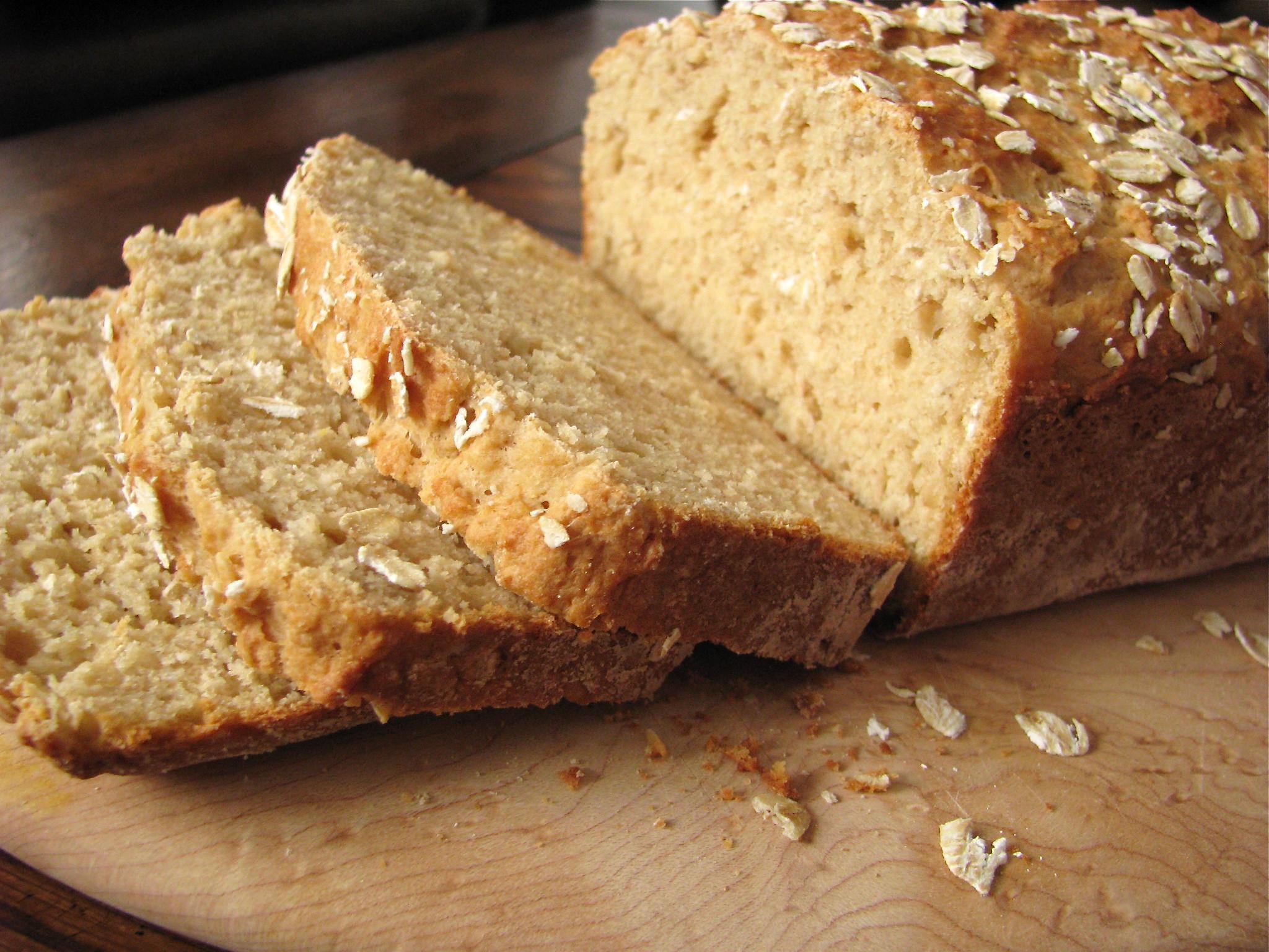 Healthy Oatmeal Bread Recipe  Whole Wheat Oatmeal Quick Bread