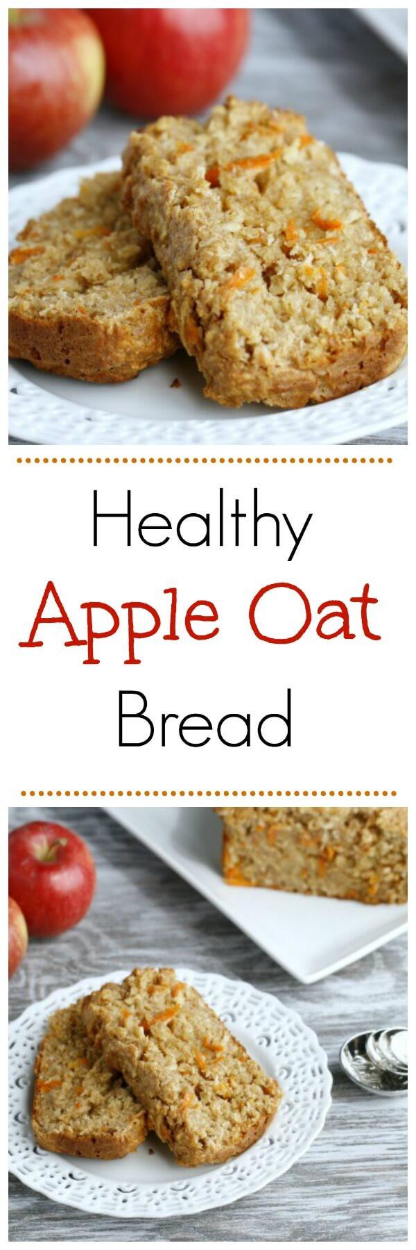 Healthy Oatmeal Bread Recipe  healthy apple bread with oats