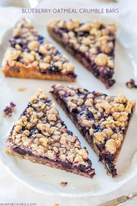 Healthy Oatmeal Breakfast Bars Recipe Easy  Blueberry Oatmeal Crumble Bars