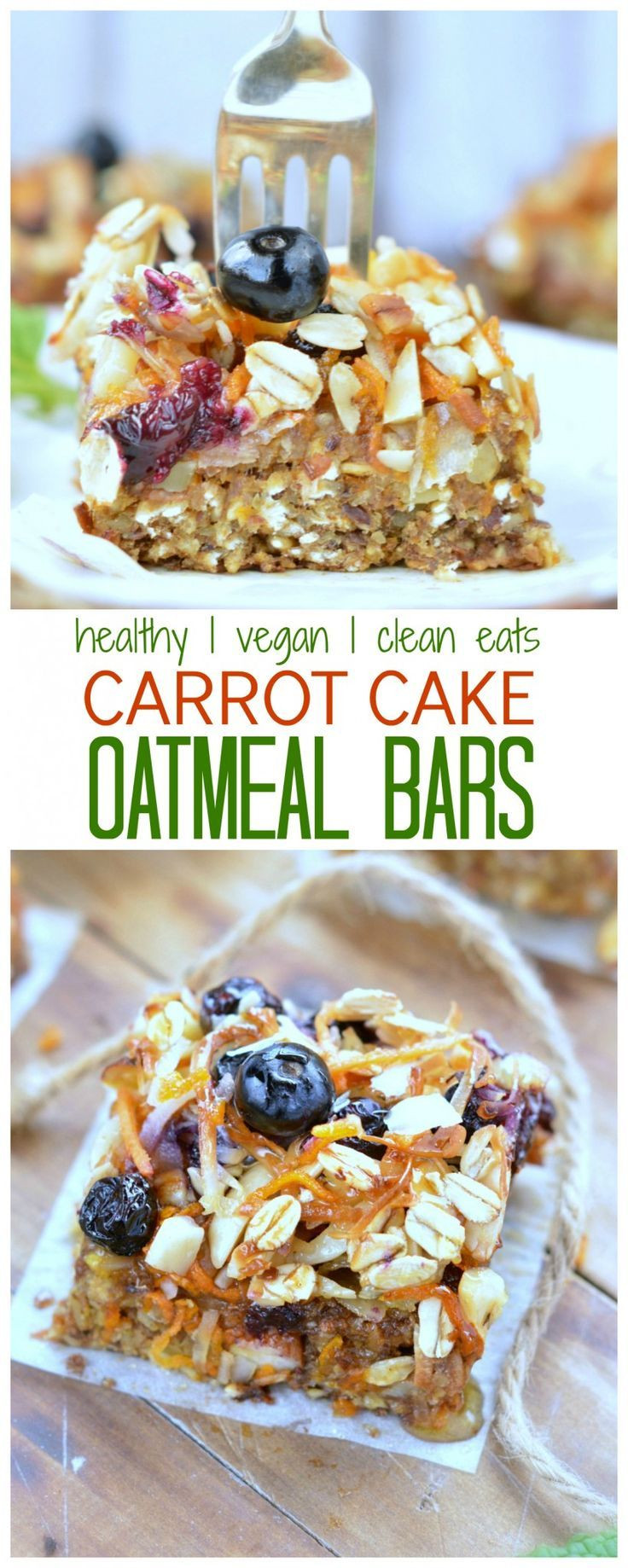 Healthy Oatmeal Breakfast Bars Recipe Easy  Carrot Cake Baked Oatmeal Bars