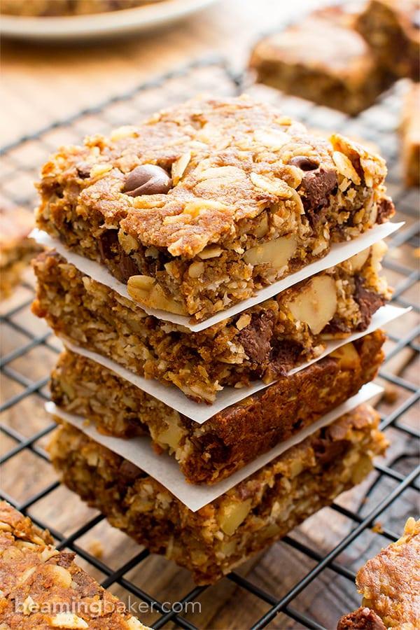 Healthy Oatmeal Breakfast Bars Recipe Easy  oatmeal bars recipe