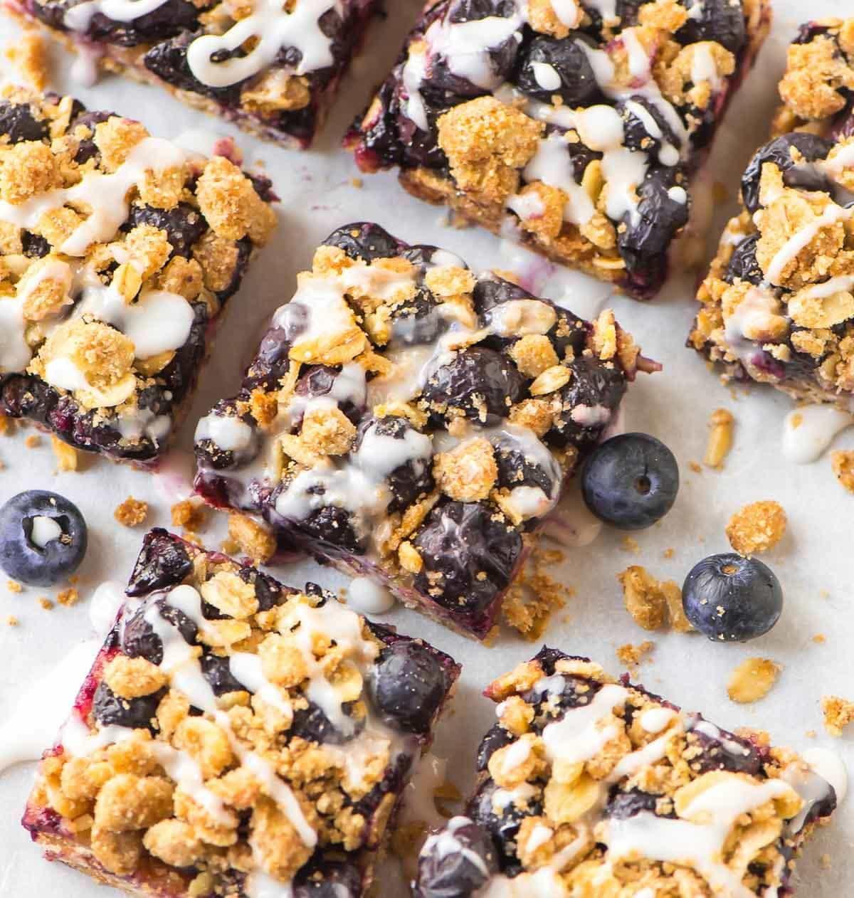 Healthy Oatmeal Breakfast Bars Recipe Easy  Blueberry Oatmeal Bars