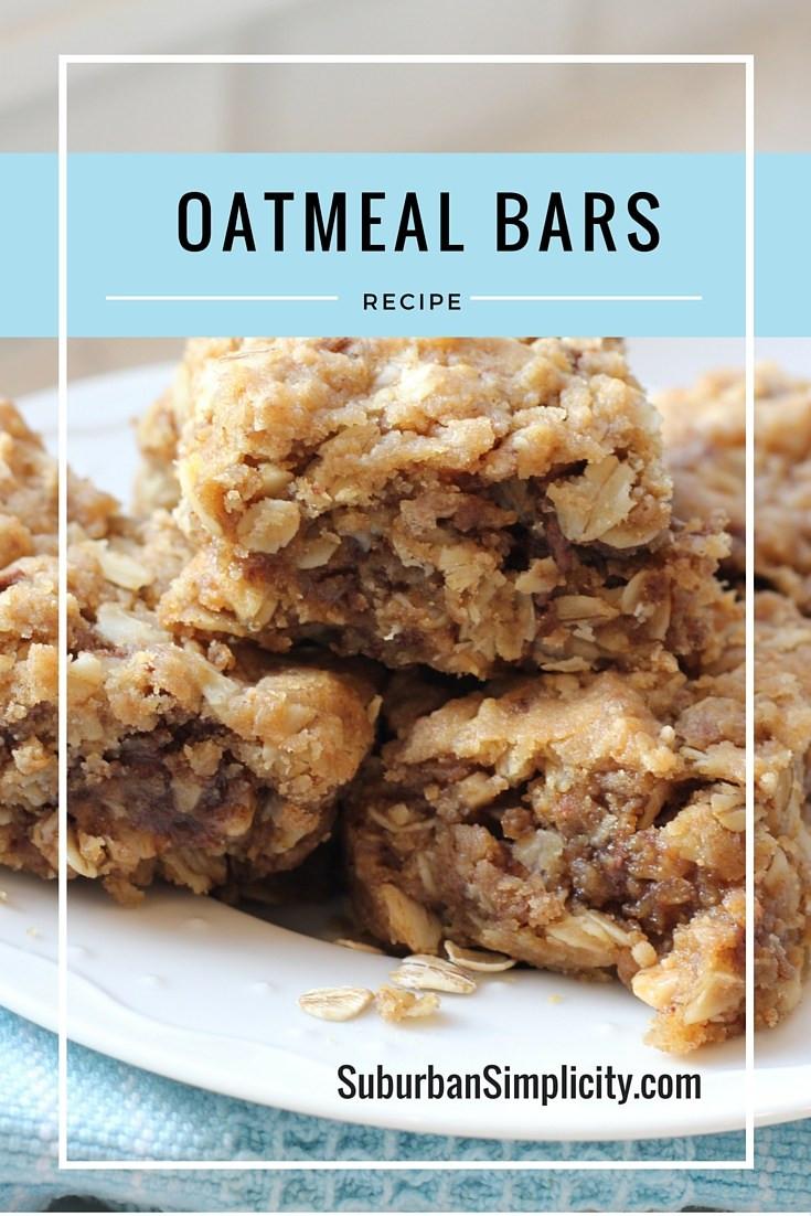 Healthy Oatmeal Breakfast Bars Recipe Easy  Easy Oatmeal Bars Recipe