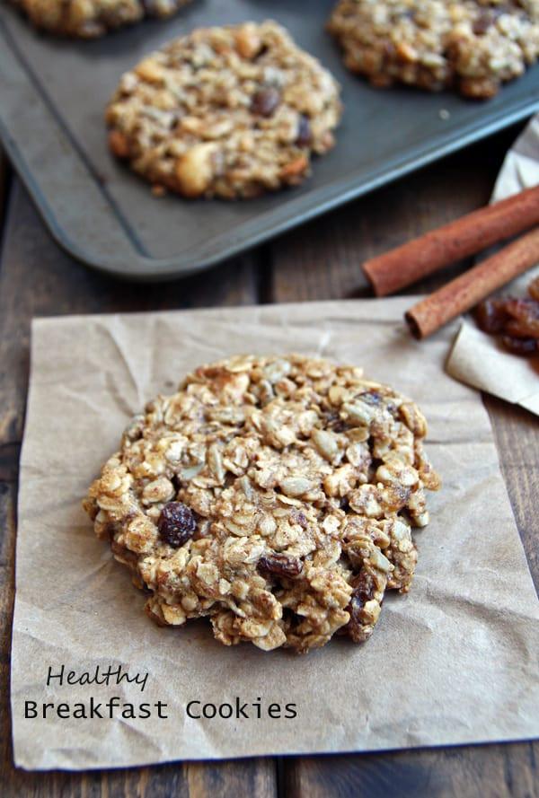 Healthy Oatmeal Breakfast Cookies  Gluten Free Healthy Breakfast Cookies Leelalicious