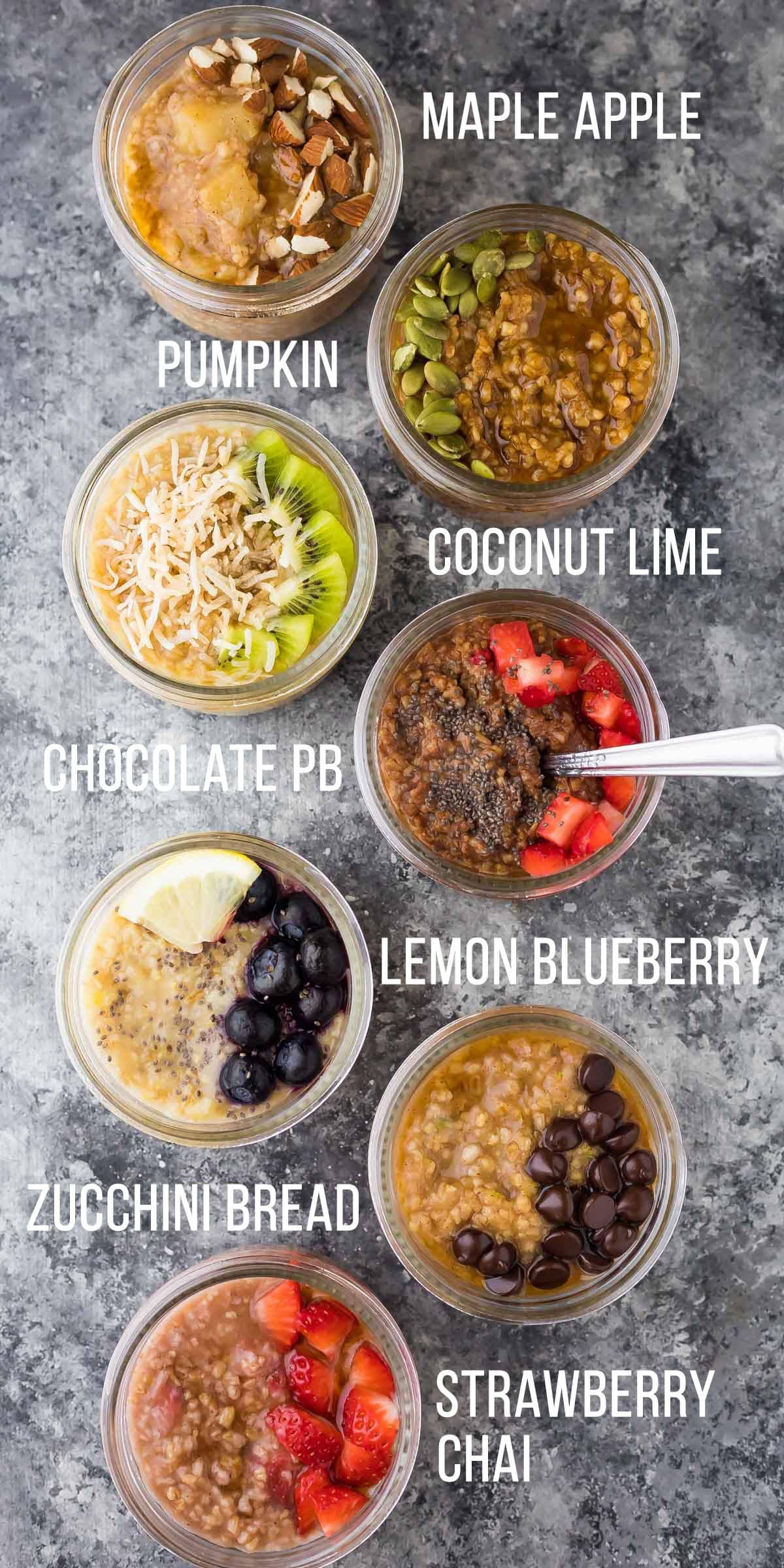 Healthy Oatmeal Breakfast Recipes  7 DELICIOUS Steel Cut Oats Flavors