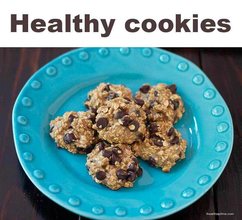 Healthy Oatmeal Choc Chip Cookies  Healthy oatmeal chocolate chip cookies I Heart Nap Time