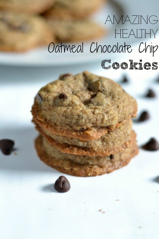 Healthy Oatmeal Chocolate Chip Cookies  Amazing Healthy Oatmeal Chocolate Chip Cookies