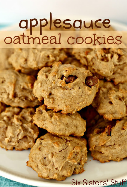 Healthy Oatmeal Chocolate Chip Cookies Applesauce  Applesauce Oatmeal Cookies