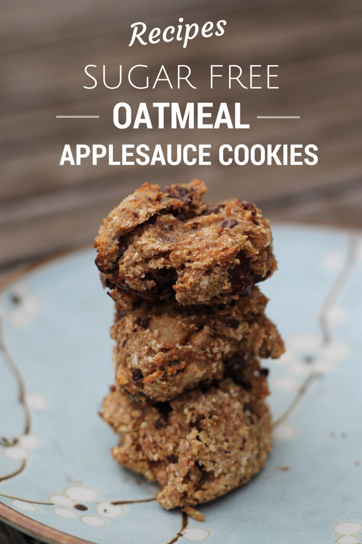 Healthy Oatmeal Chocolate Chip Cookies Applesauce  applesauce oatmeal chocolate chip cookies