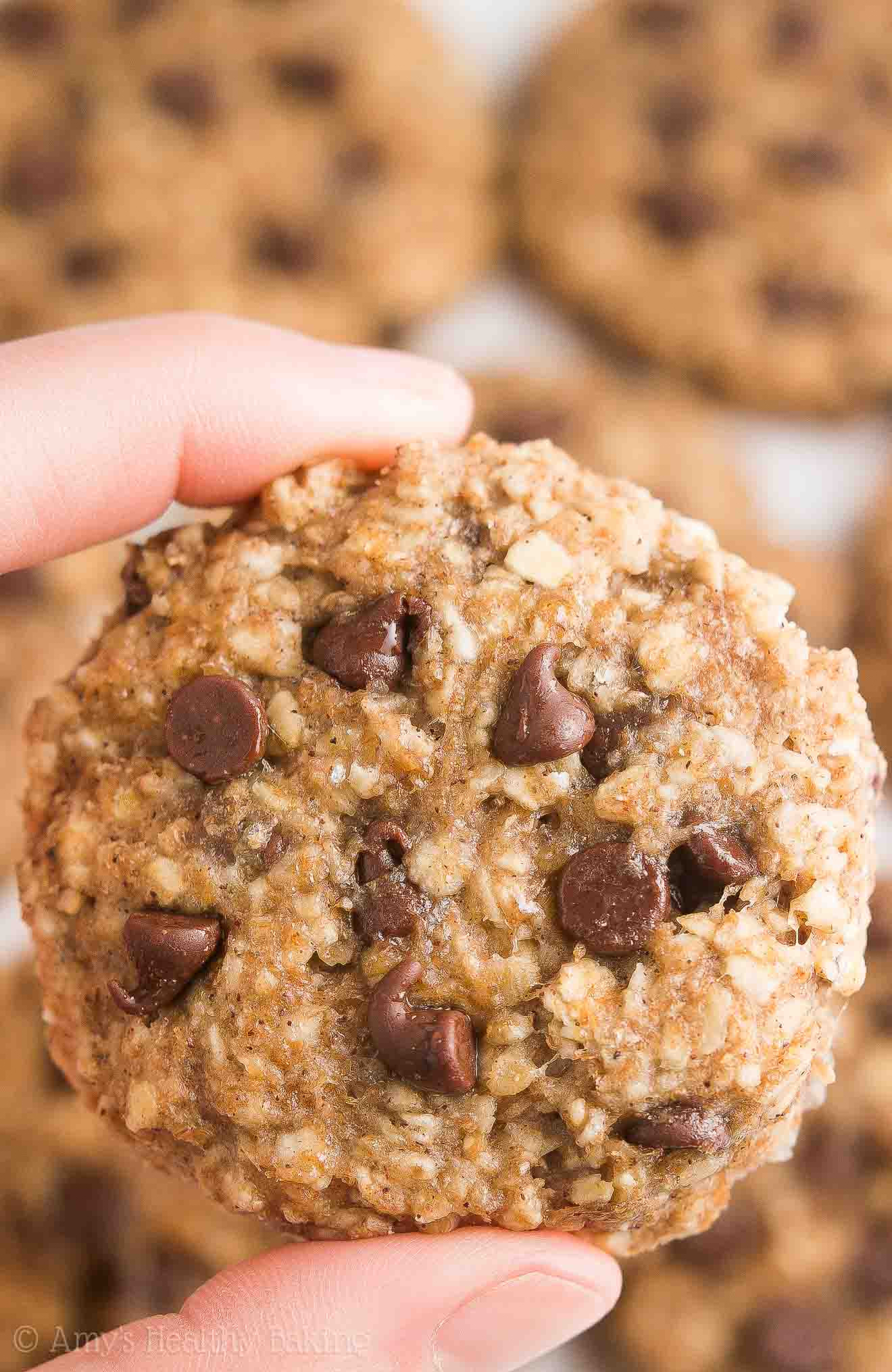 Healthy Oatmeal Chocolate Chip Cookies No Butter  Healthy Chocolate Chip Banana Oatmeal Breakfast Cookies