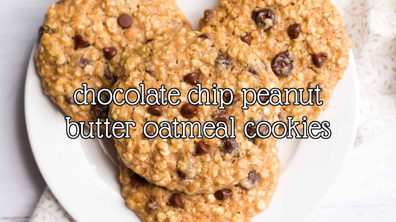 Healthy Oatmeal Chocolate Chip Cookies No Butter  Healthy Chocolate Chip Peanut Butter Oatmeal Cookies