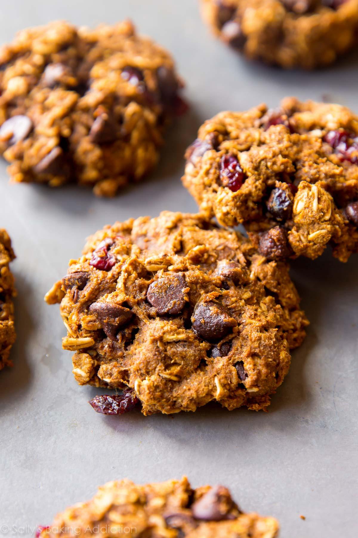 Healthy Oatmeal Chocolate Chip Cookies No Butter  Healthy Pumpkin Chocolate Chip Oatmeal Cookies Sallys
