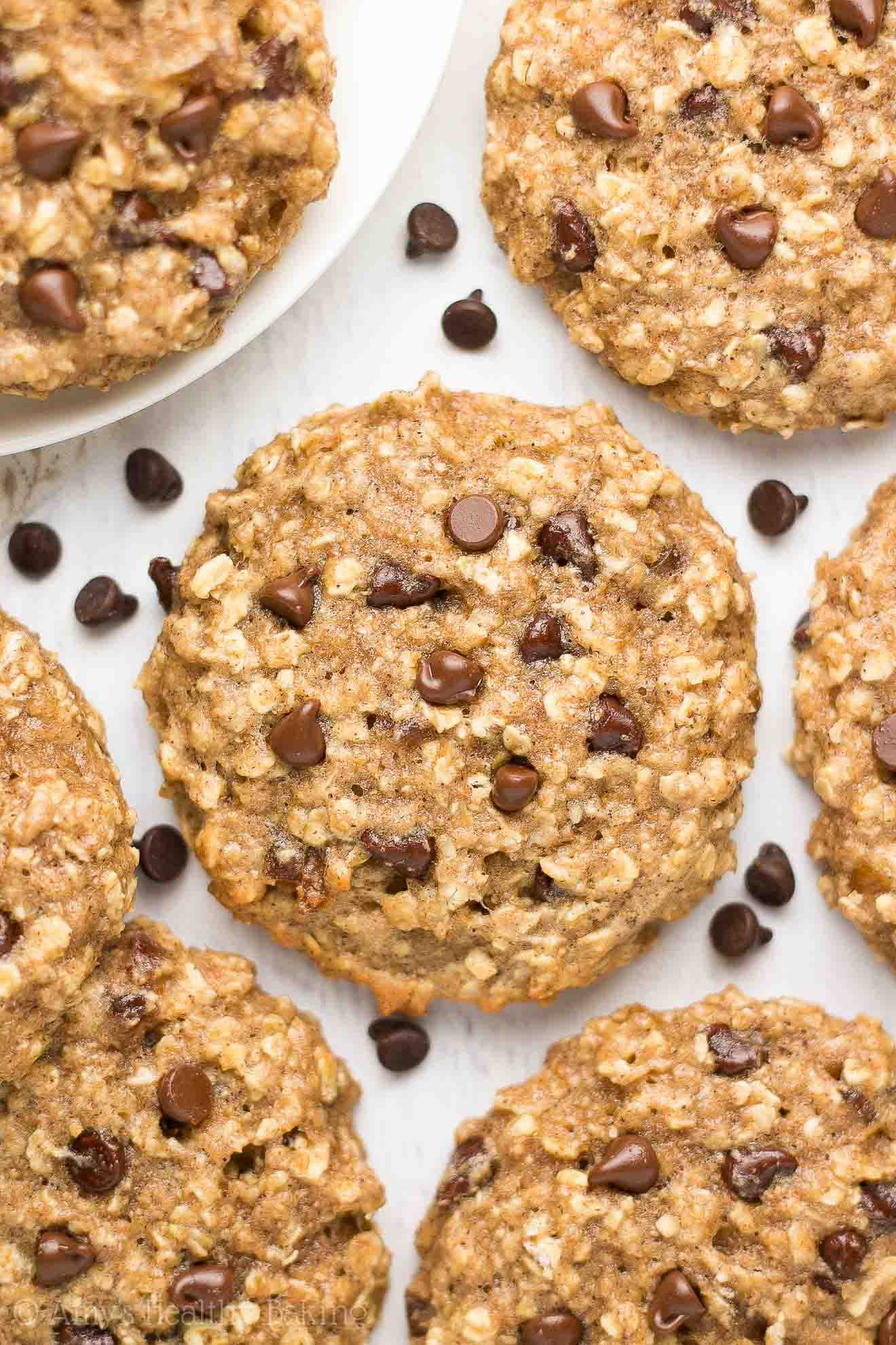 Healthy Oatmeal Chocolate Chip Cookies Recipe  easy healthy oatmeal chocolate chip cookie recipe