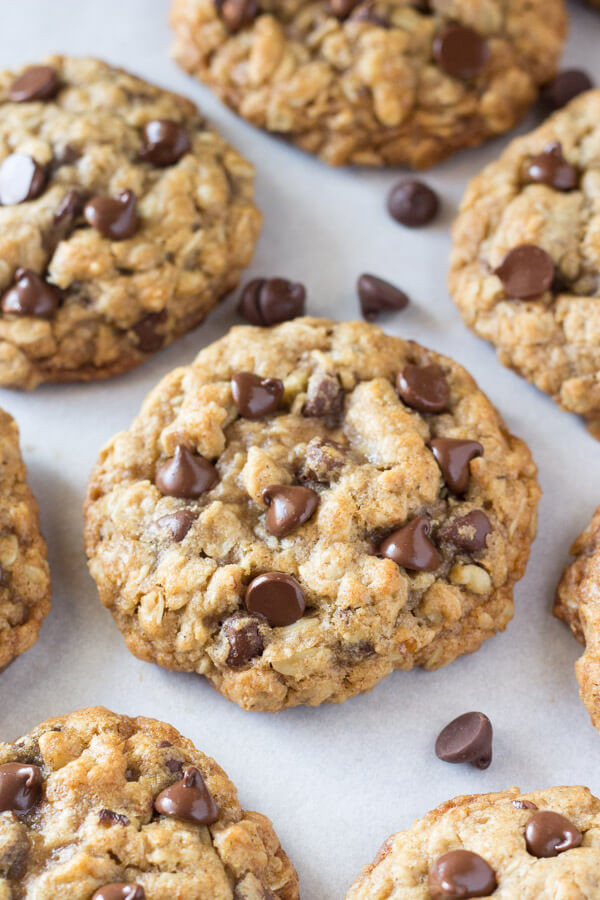 Healthy Oatmeal Chocolate Chip Cookies Recipe  Soft and Chewy Oatmeal Chocolate Chip Cookies Just so Tasty