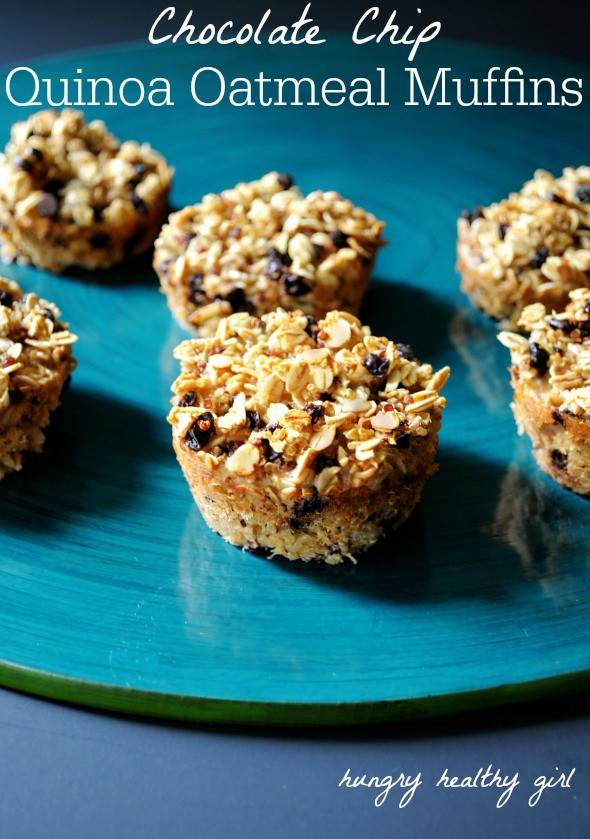 Healthy Oatmeal Chocolate Chip Muffins  Marvelous Things including Chocolate Chip Quinoa Oatmeal