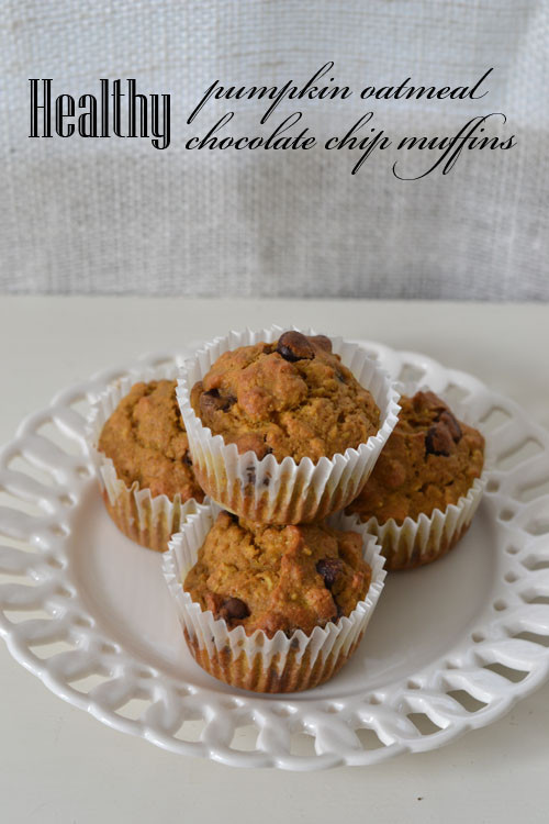 Healthy Oatmeal Chocolate Chip Muffins  Healthy Pumpkin Oatmeal Chocolate Chip Muffins Supper