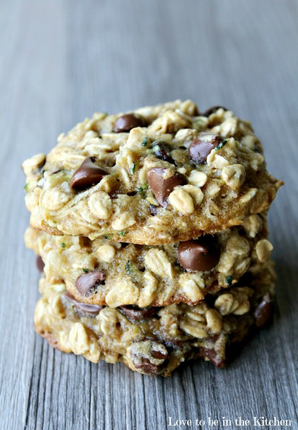Healthy Oatmeal Coconut Chocolate Chip Cookies  Zucchini Oat Coconut Chocolate Chip Cookies Love to be
