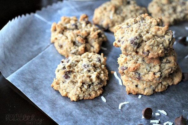 Healthy Oatmeal Coconut Chocolate Chip Cookies  Coconut Oatmeal Chocolate Chip Cookies Cookie Recipes